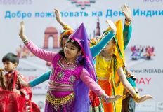 Puppy dance of Center of India folk artists Stock Images