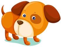 Puppy dog. Illustration of isolated puppy dog on white background Royalty Free Stock Photo