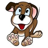 Puppy dog. 1 - High detailed and coloured illustration Stock Photography