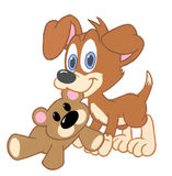 Puppy Dog And Friend Stock Images