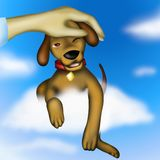 Puppy dog ??on a cloud. Background with puppy dog ??on a cloud Royalty Free Stock Photography