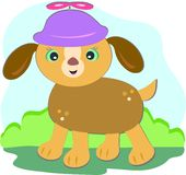Puppy Dog with Spinner Hat Stock Images
