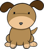 Puppy Dog Vector. Cute Puppy Dog Vector Illustration Royalty Free Stock Images