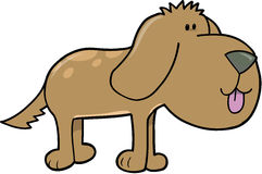 Puppy Dog Vector. Brown Puppy Dog Vector Illustration Stock Photography