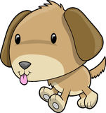 Puppy Dog Vector Illustration. Cute Puppy Dog Vector Illustration Royalty Free Stock Images
