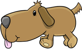 Puppy Dog Vector Illustration. Cute Puppy Dog Vector Illustration Stock Images