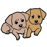 Puppy dog vector Royalty Free Stock Photography