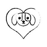 Puppy domestic mammal love sketch Stock Photography