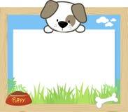 Puppy en lege raad Royalty-vrije Stock Afbeeldingen