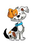 Puppy funny cute friend collar Stock Images