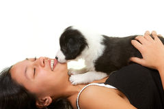 Puppy kisses Royalty Free Stock Image