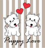 Puppy love royalty free illustration