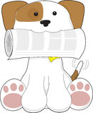 Puppy Love Newspaper Stock Image