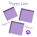 Puppy love scrapbook Stock Photo