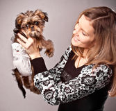 Puppy with mother Stock Photos