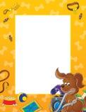 Puppy photo frame stock illustration