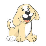 Puppy picture of baby Stock Image