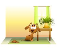 Puppy Pooped on The Floor vector illustration