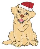 Puppy in red hat royalty free illustration