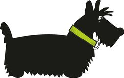 Puppy scotch terrier. Toy - cartoon isolated vector illustration, white background Stock Photography