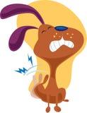 Puppy scrathing stock illustration