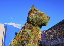 Puppy Sculpture in Bilbao Stock Image