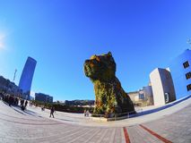 Puppy Sculpture in Bilbao Stock Images