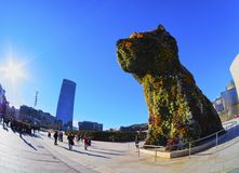 Puppy Sculpture in Bilbao Royalty Free Stock Photo