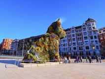 Puppy Sculpture in Bilbao Royalty Free Stock Photos