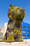 Puppy sculpture in Bilbao, Spain Royalty Free Stock Photography