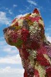 Puppy sculpture in front of Guggenheim Bilbao Stock Photo