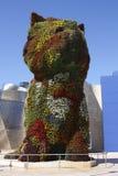 Puppy sculpture by Jeff Koons. Guggenheim Bilbao. Puppy sculpture by Jeff Koons. This is a giant dog made of flowers. the Guggenheim Museum, Bilbao, Euskadi Stock Image