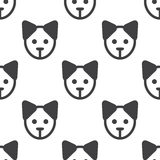 Puppy,  seamless pattern Royalty Free Stock Photos
