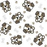 Puppy seamless pattern Stock Photos