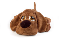 Puppy toy. Sad puppy toy over white background Royalty Free Stock Photos