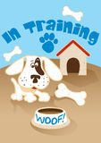 Puppy in training. Vector illustration of a puppy dog Stock Photo