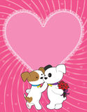 Puppy Valentine Stock Photo
