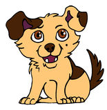 Puppy 2. Vector illustration of a little cute cartoon puppy Royalty Free Stock Image