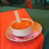 Purè della minestra del pomodoro Fotografia Stock