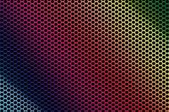 Puré del metal en colores del arco iris Ilustración del Vector