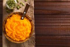 Puré fresco da abóbora do vegetariano Fotografia de Stock Royalty Free