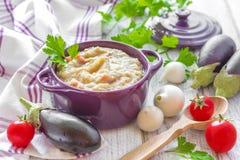 Purée d'aubergine Photos libres de droits