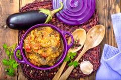 Purée d'aubergine Photographie stock