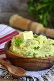 Purée de pommes de terre avec l'herbe Image libre de droits