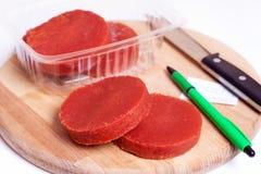 Purée de tomate Photos libres de droits