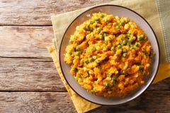 Purée végétarienne kenyane d'Irio de repas de patate douce avec le pois photographie stock libre de droits