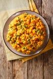 Purée végétarienne kenyane d'Irio de repas de patate douce avec le pois image stock