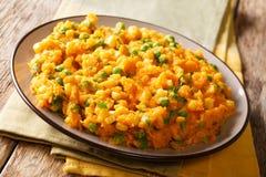 Purée végétarienne kenyane d'Irio de repas de patate douce avec le pois photo stock