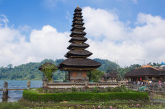 Pura在湖Beratan的Ulun Danu 免版税库存图片