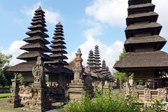 Pura塔曼阿云寺在巴厘岛 图库摄影